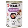 Ontario Cat - piščanec, puran in lososvo olje - 400 g 400 g