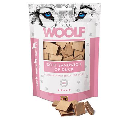 Woolf priboljški - mehki račji sendvič - 100 g