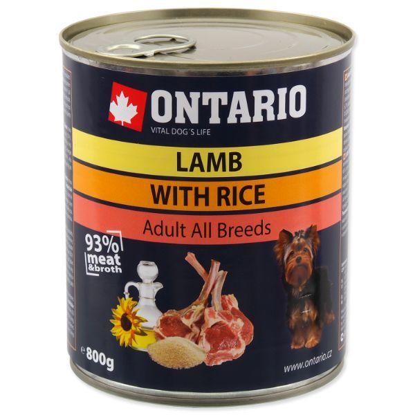 Ontario Adult - jagnjetina, riž in sončnično olje - 800 g