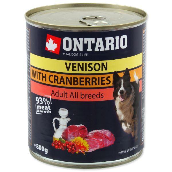 Ontario Adult - divjačina, brusnice in žafranikino olje - 800 g