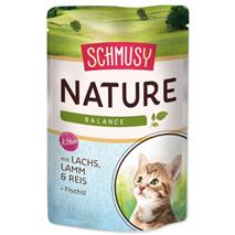 Schmusy Nature Kitten - losos in jagnjetina - 100 g