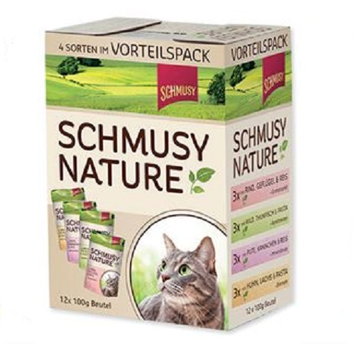 Schmusy Nature Multibox - 100 g x 12 kos