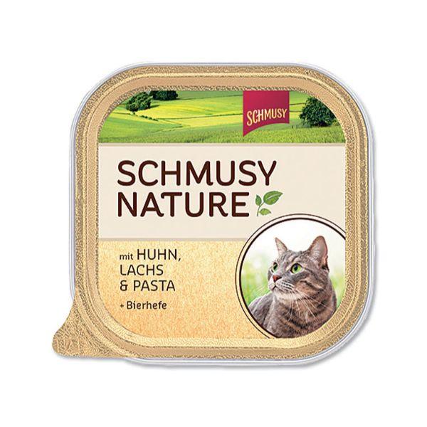 Schmusy Nature Kitten - piščanec in losos - 100 g