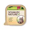 Schmusy Nature alutray - piščanec in losos - 100 g 100 g
