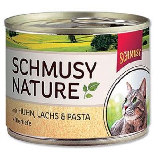 Schmusy Nature - piščanec in losos - 190 g