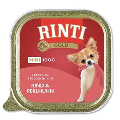 Rinti Gold Mini alutray - govedina in pegatka - 100 g