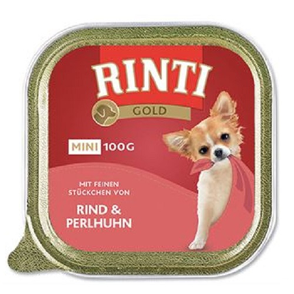 Rinti Gold Mini alutray - govedina in pegatka - 100 g