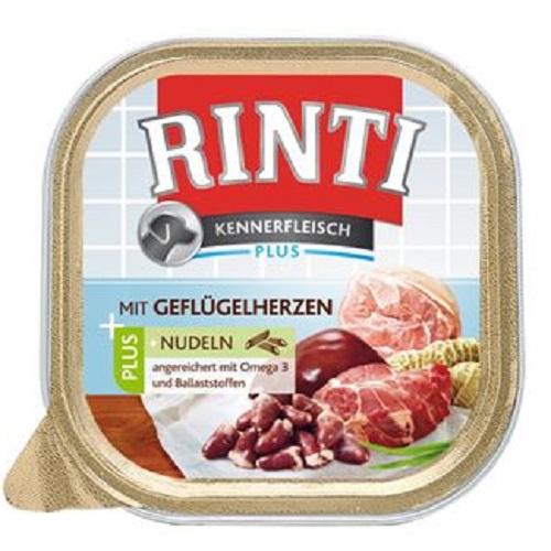 Rinti Kennerfleisch alutray - piščančje srce in testenine - 300 g