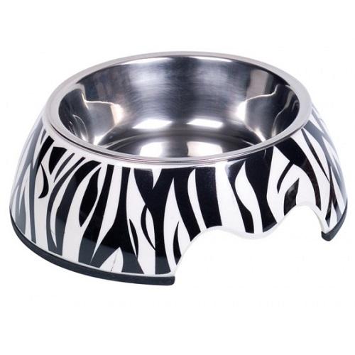 Nobby melamin posoda, zebra - 14 cm/160 ml