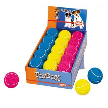 Nobby teniška žoga iz lateksa - 6,5 cm