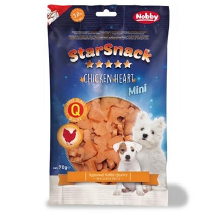 Nobby Starsnack Mini mehki piščančji prigrizki, srčki – 70 g