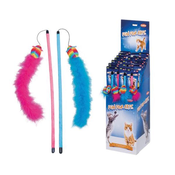 Nobby palica + miš + perje - 45 cm