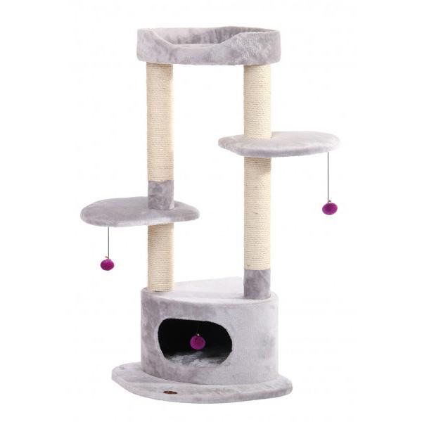 Nobby Shemeto praskalnik za mačke, siv - 116 x 50 x 50 cm