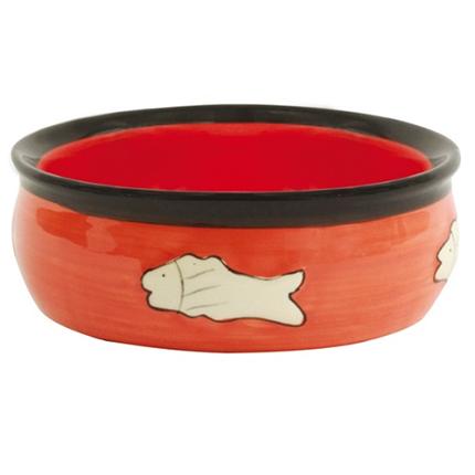 Dog Fantasy posoda keramika, rumena - 12 cm/220 ml
