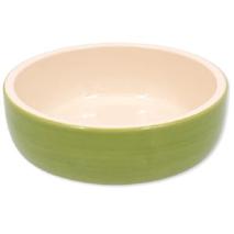 Dog Fantasy posoda keramika, zelena - 14 cm/300 ml
