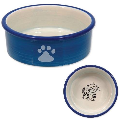 Dog Fantasy posoda keramika, modra - 12 cm/300 ml