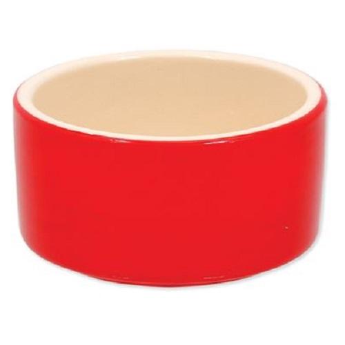 Dog Fantasy posoda keramika, rdeča - 10 cm/220 ml