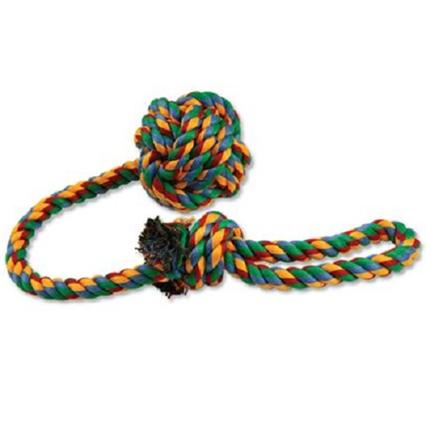 Dog Fantasy igralna vrv z žogico - 55 cm