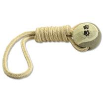 Dog Fantasy igralna vrv iz jute z žogico- 34 cm