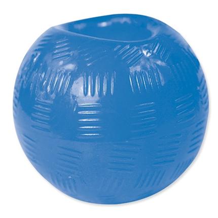 Dog Fantasy Rubber žoga, modra - 6,3 cm