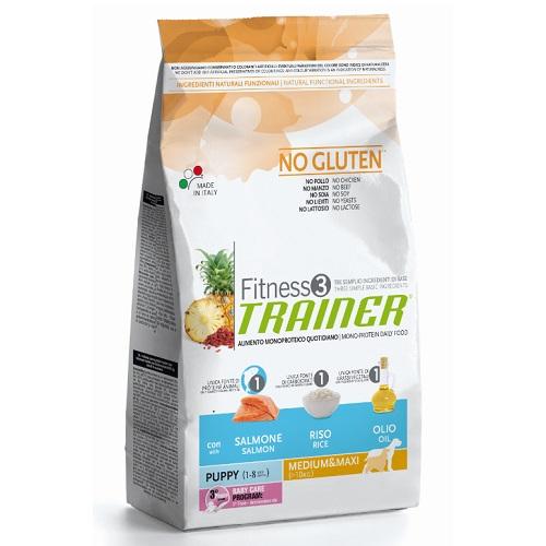 Trainer Fitness3 Puppy Medium/Maxi - losos in riž 12,5 kg