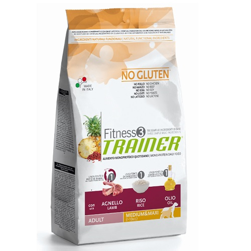 Trainer Fitness3 Adult Medium/Maxi - jagnjetina in riž 12,5 kg
