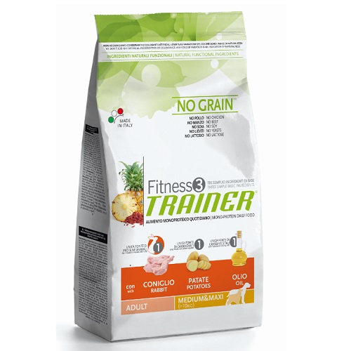 Trainer Fitness3 Adult Medium/Maxi - zajec in krompir 12,5 kg