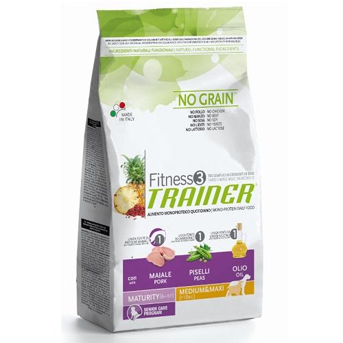 Trainer Fitness3 Senior Medium/Maxi - svinjina in grah 12,5 kg