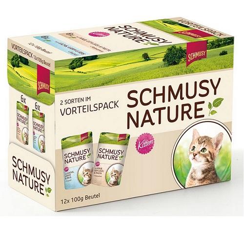 Schmusy Nature Kitten Multibox - 100 g x 12 kos