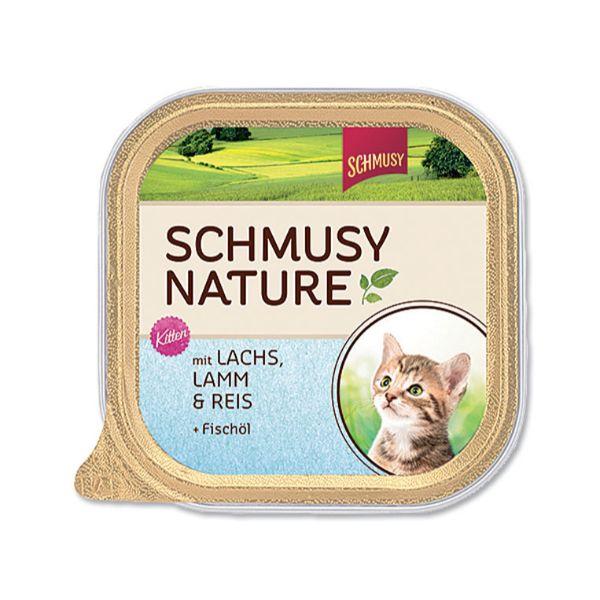 Schmusy Nature Kitten - losos in jagnjetin - 100 g