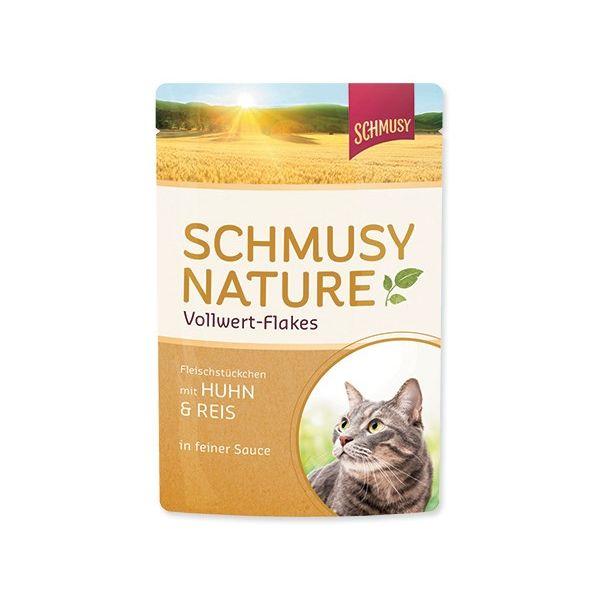 Schmusy Nature - piščanec, riž in kosmiči - 100 g