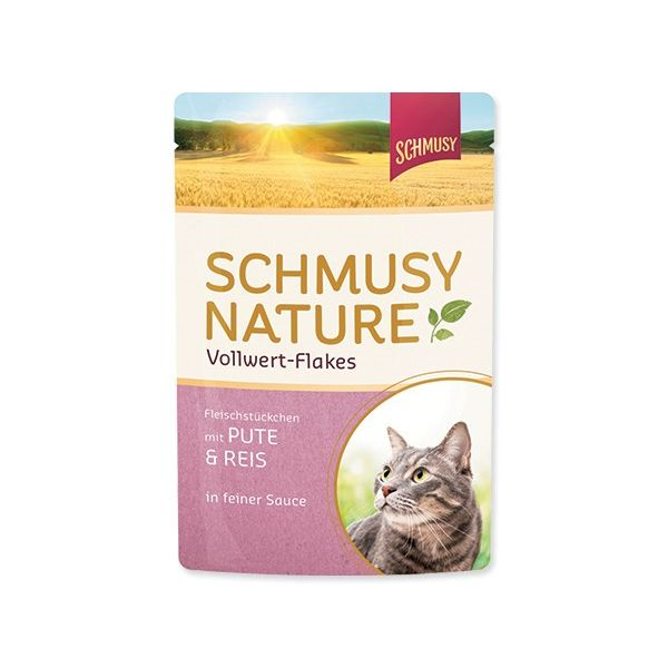 Schmusy Nature - puran, riž in kosmiči - 100 g