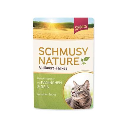 Schmusy Nature - zajec, riž in kosmiči - 100 g