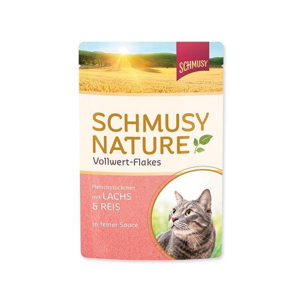 Schmusy Nature - losos, riž in kosmiči - 100 g