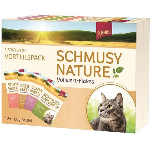 Schmusy Nature Multibox - s kosmiči - 100 g x 12 kos