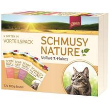 Schmusy Nature Multibox - s kosmiči - 100 g x 12 kos