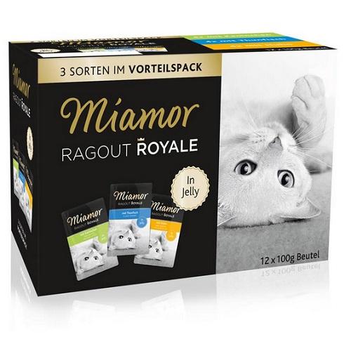Miamor Ragu Roya Multibox - zajec/tuna/piščanec - 12 x 100 g
