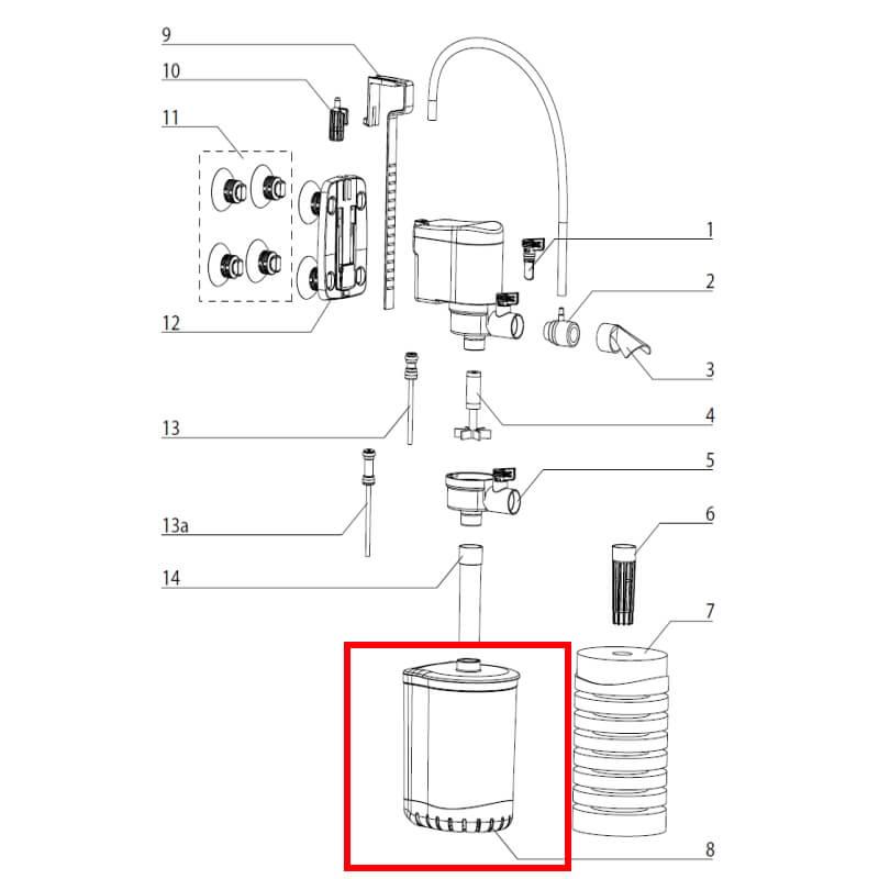 Aquael posoda za filter Turbo 500