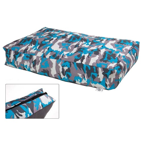 Leopet oglata blazina Brick, vojaško modra - 50x80x15 cm