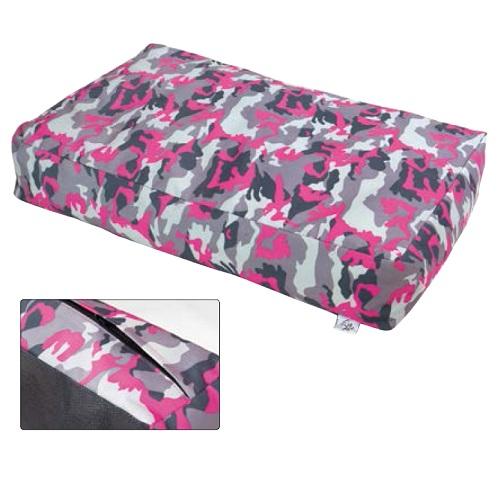 Leopet oglata blazina Brick, vojaško roza - 50x80x15 cm