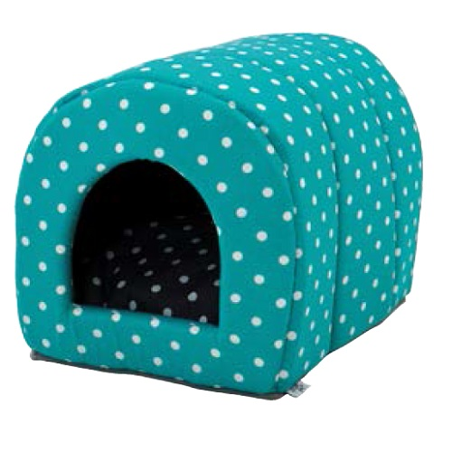 Carbone pet products tunel Vulcano - moder s pikami - 35 x 50 x 36 cm