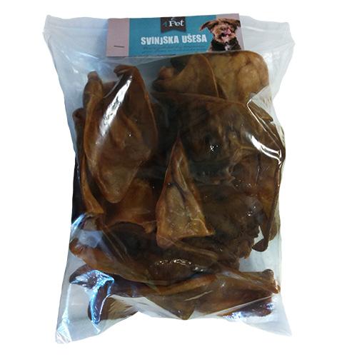 4Pet svinjski uhlji - 15 kos