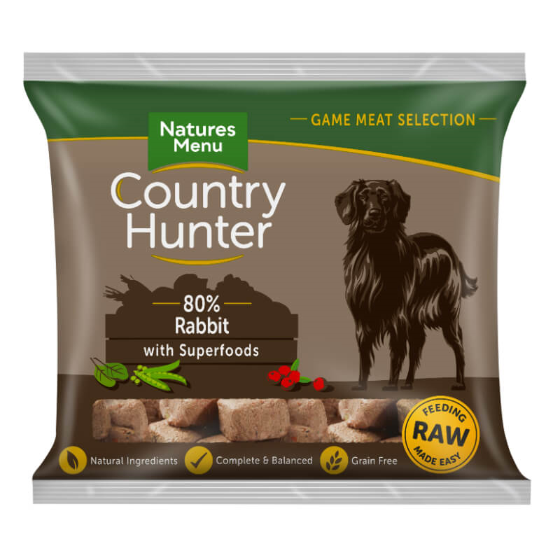 Natures Menu Country Hunter Nugget - kunec, brusnice - 1 kg - zamrznjeno