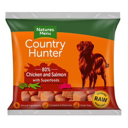 Natures Menu Country Hunter Nugget - piščanec in losos - 1 kg