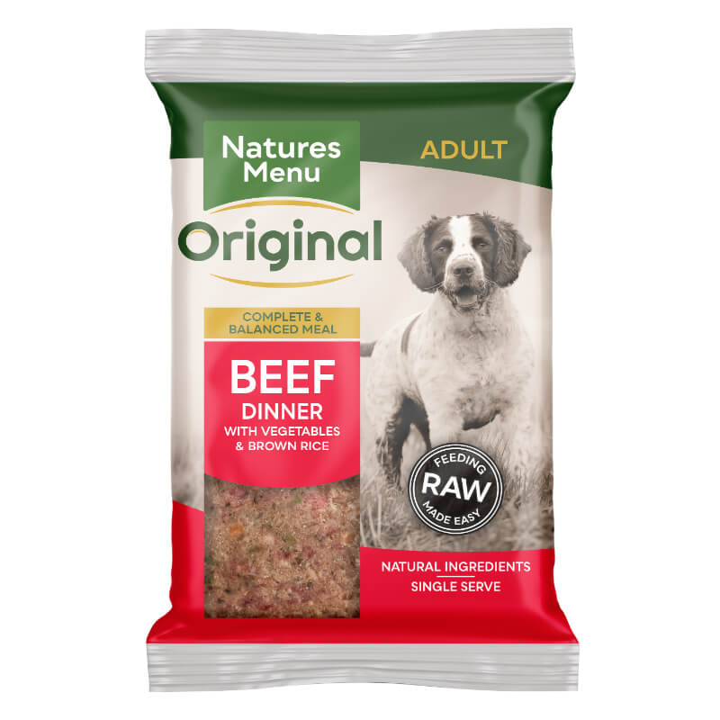 Natures Menu Bricks - govedina z zelenjavo, rjavim rižem - 300 g - zamrznjeno