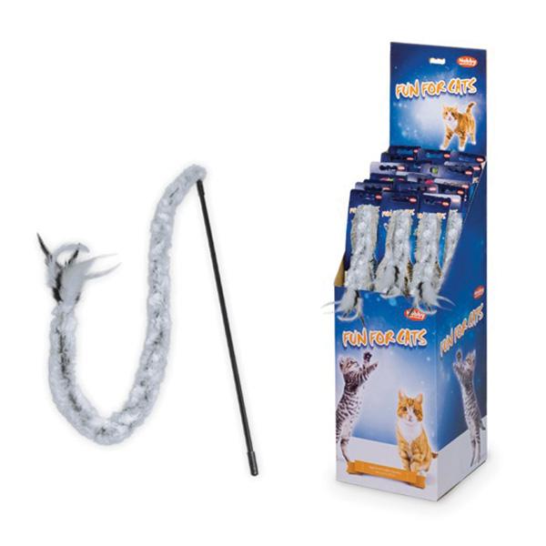 Nobby palica + perje + pliš - 75 cm