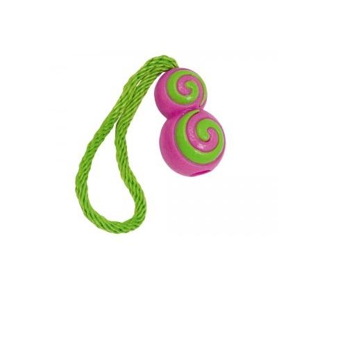 Nobby plavajoča žoga z vrvjo, lila - 26 cm