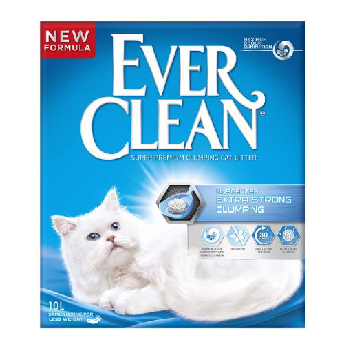 Ever Clean Extra Strong posip za mačje stranišče, neodišavljen - 10 L
