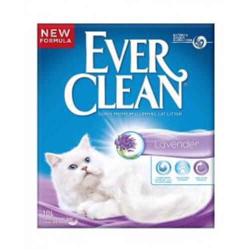 Ever Clean posip za mačje stranišče, sivka - 10 L