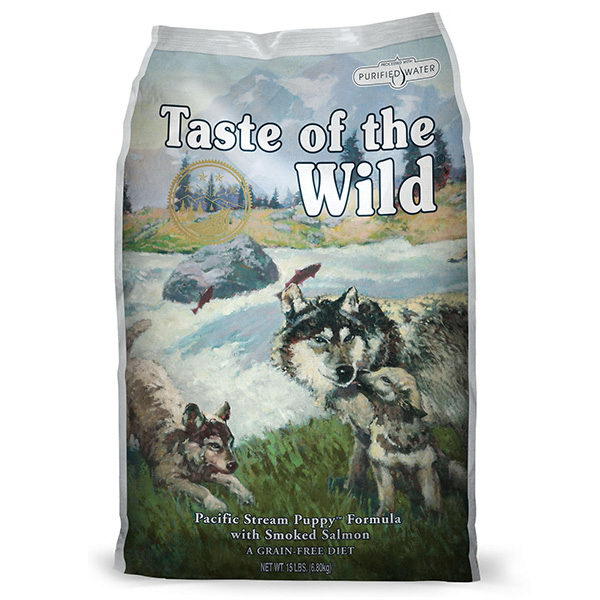 Taste Of The Wild Pacific Stream, Puppy – prekajeni losos 13 kg